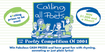Calling All Poets - Poetry Competition of 2004