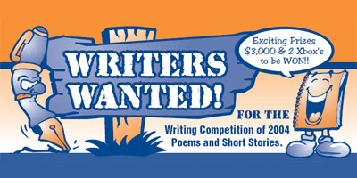 Writers Wanted for the Writing Competition of 2004